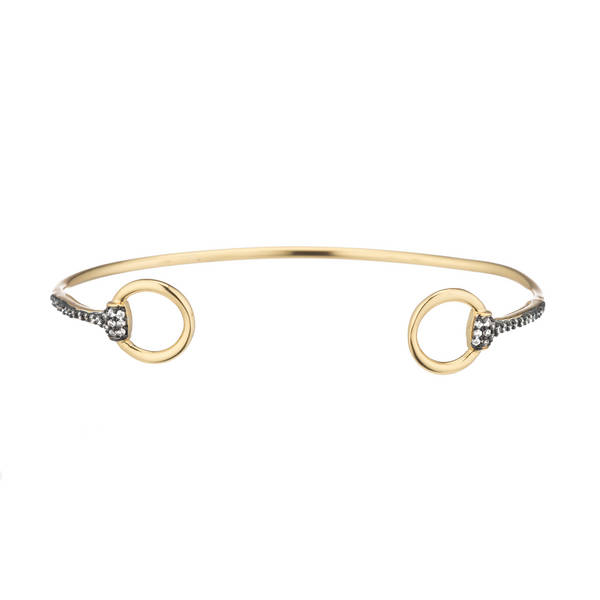 Gold Gunmetal Bangle  by MARCIA MORAN