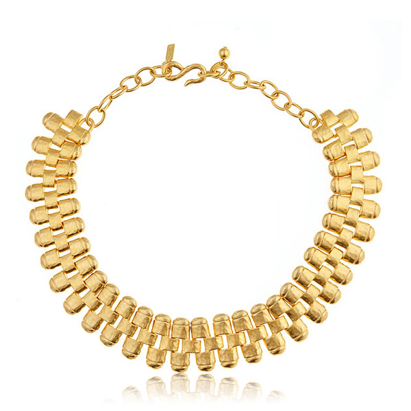 Gold Link Necklace by KENNETH JAY LANE