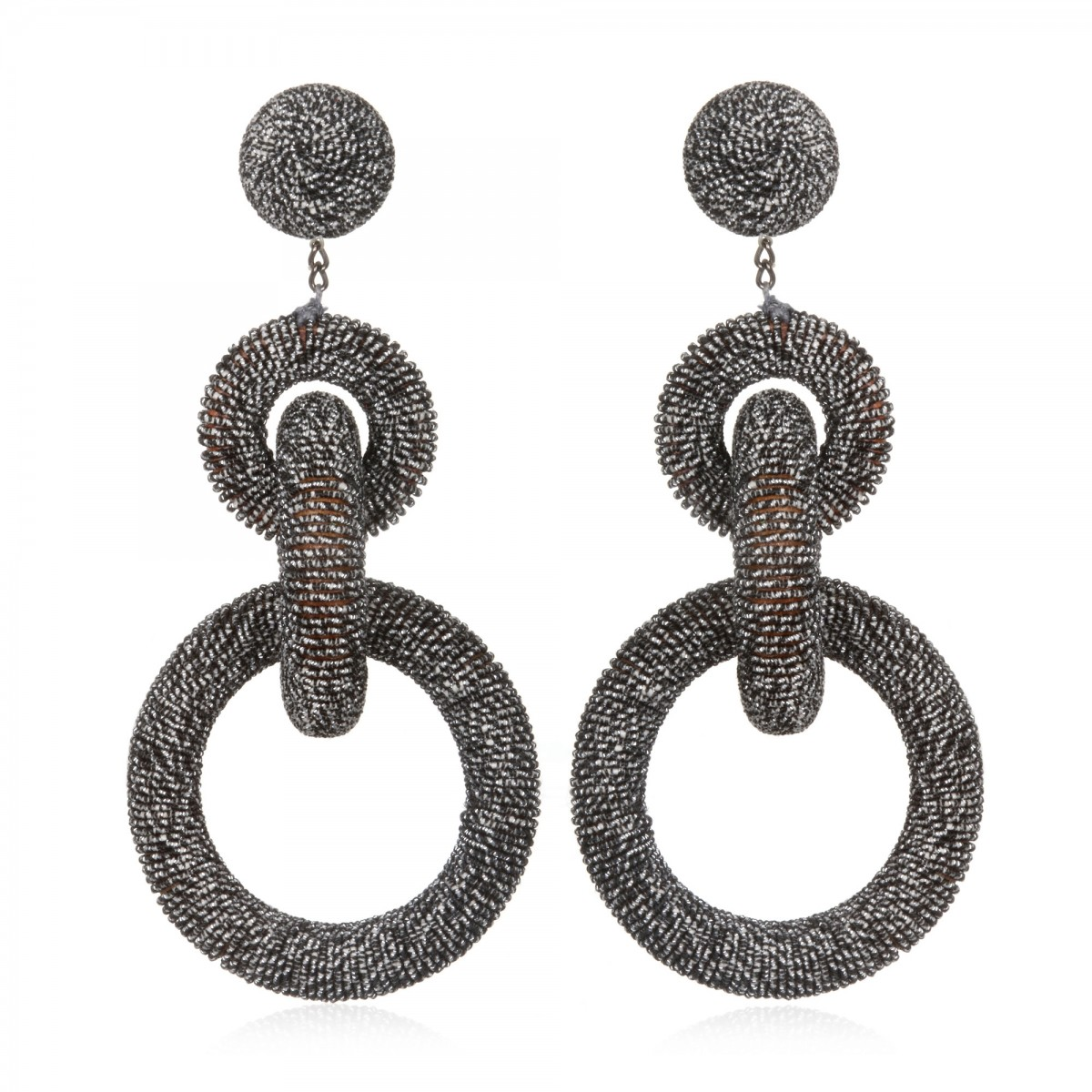 Gunmetal Metallic Hoops by SUZANNA DAI