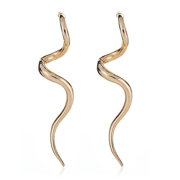 Gold Swirl Spiral Earrings by KENNETH JAY LANE