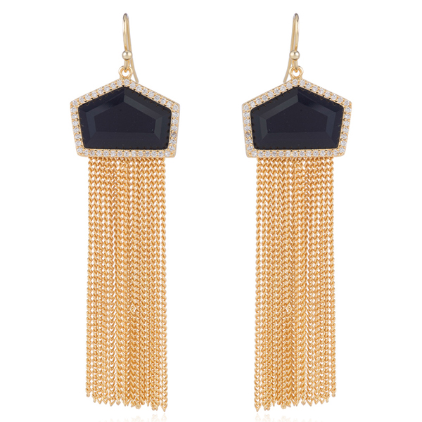 Gold Tassel Earrings by MARCIA MORAN