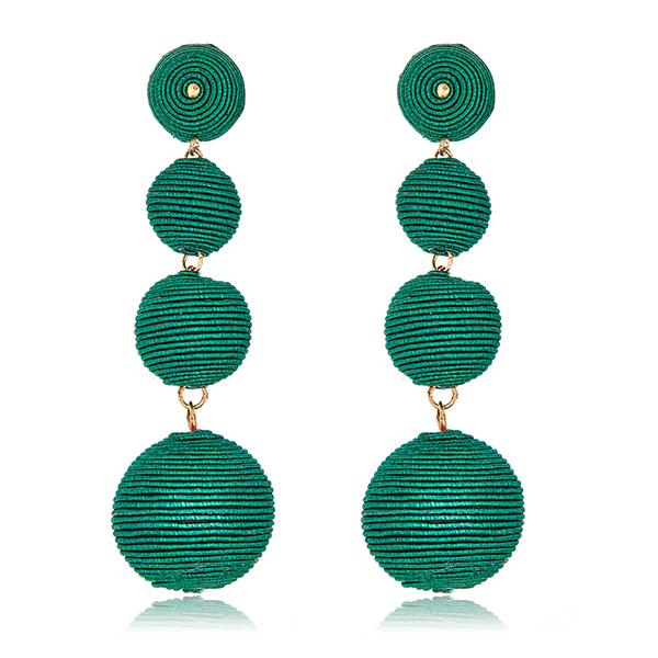 Green Gumball Bon Bon Earrings by KENNETH JAY LANE