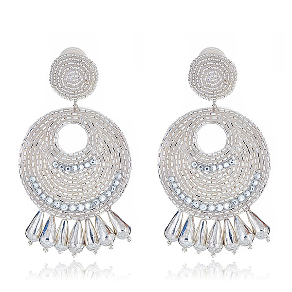 Silver Gypsy Earrings by KENNETH JAY LANE
