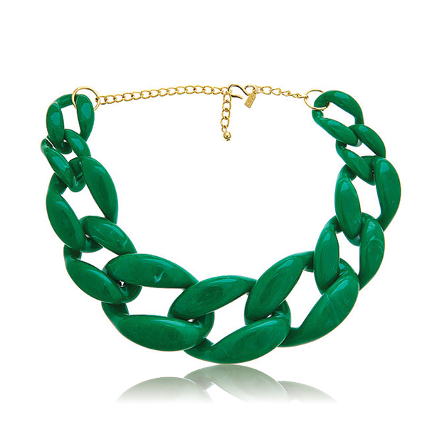 Green Link Necklace by Kenneth Jay Lane