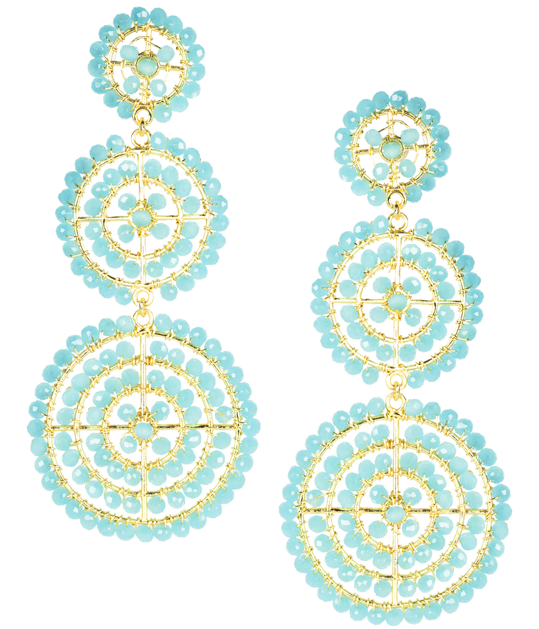 Greta Aqua Earrings