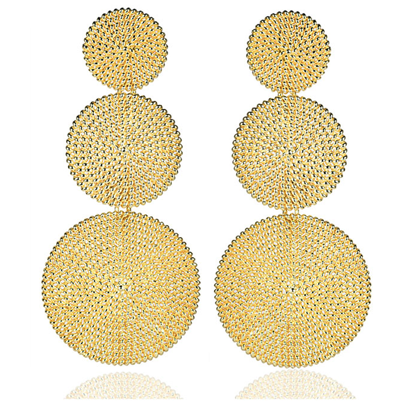 Greta Gold Disk Earrings by LISI LERCH