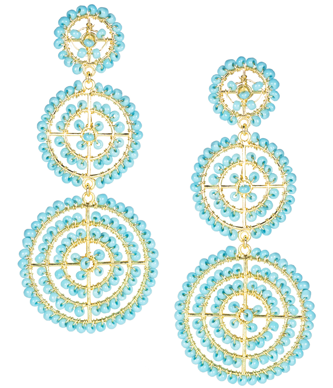 Greta Turquoise Earrings by LISI LERCH