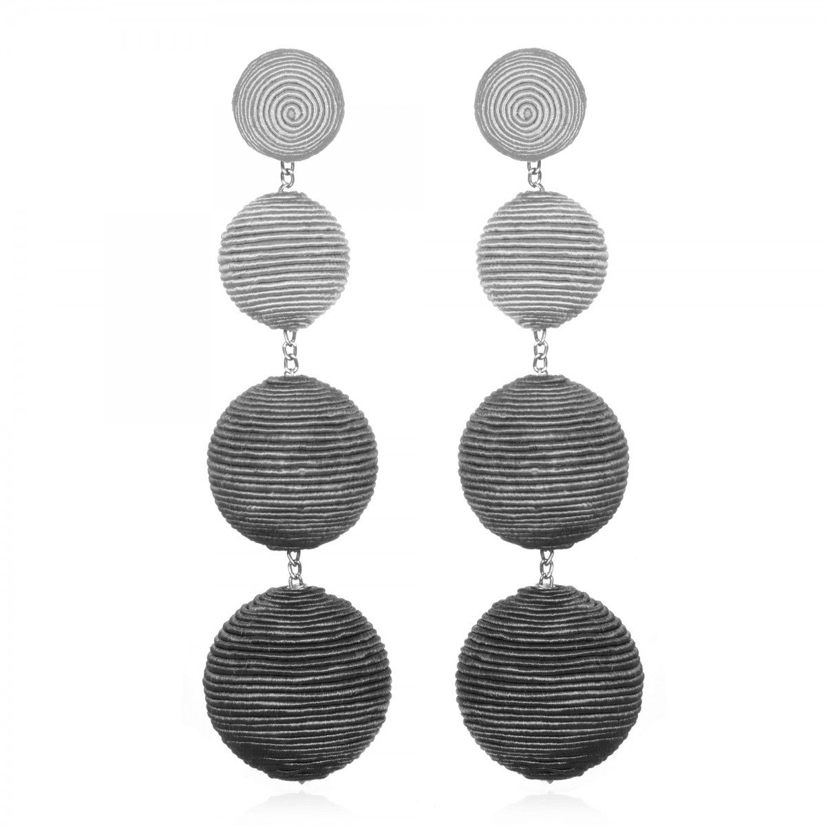 Grey Ombre Bon Bon Earrings by SUZANNA DAI