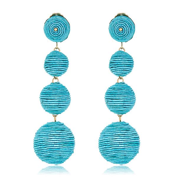 Turquoise Bon Bon Earrings  by KENNETH JAY LANE