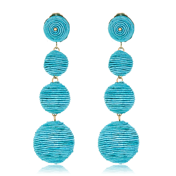 Turquoise Bon Bon Earrings  by KENNETH JAY LANE