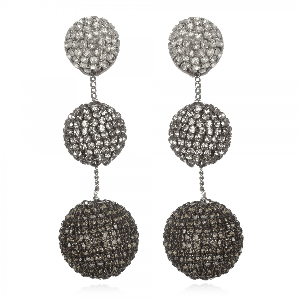 Gunmetal Ombre Grey Earrings by SUZANNA DAI