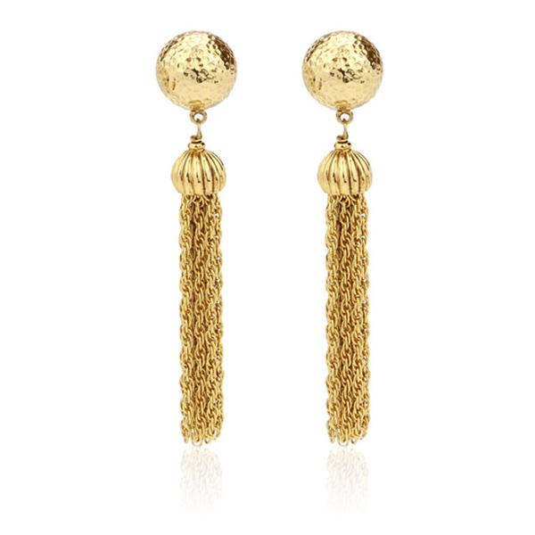 Gypset Gold Tassel Earrings by BEN-AMUN