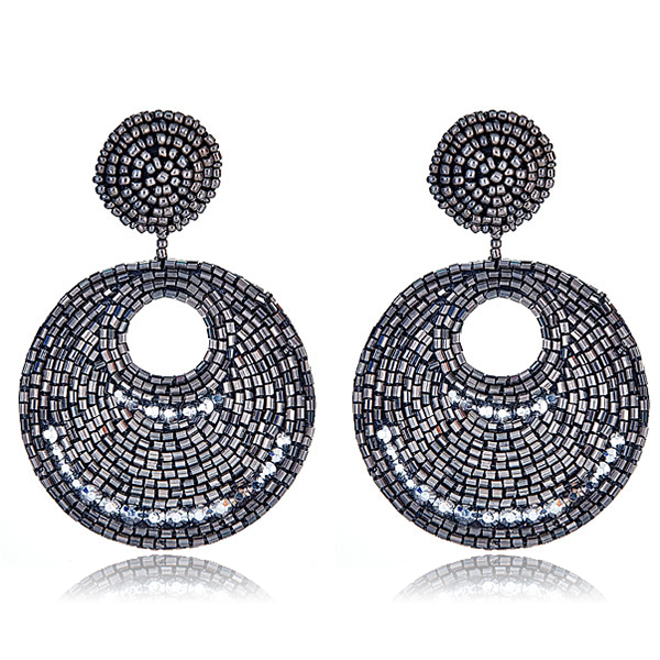 Gypsy Pewter Disc Earrings by KENNETH JAY LANE