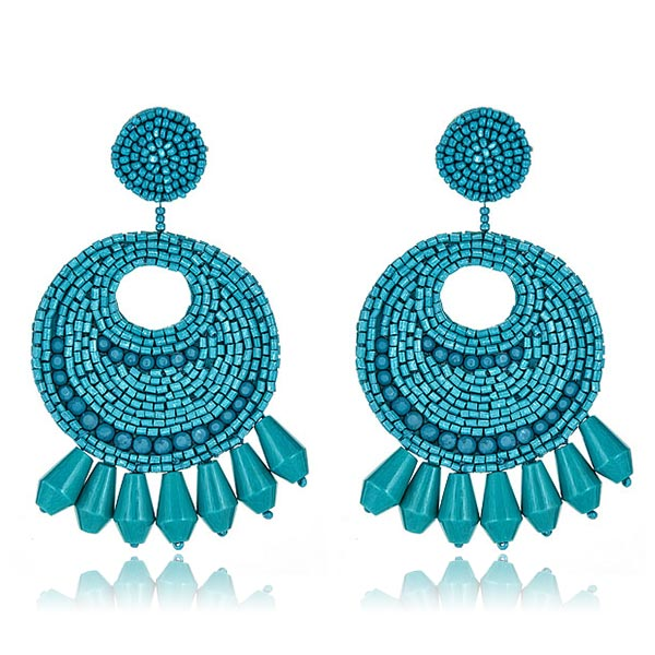 Gypsy Turquoise Earrings  by KENNETH JAY LANE