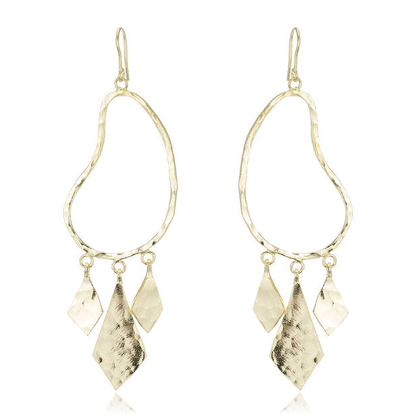 Hammered Gold Earrings by MARCIA MORAN
