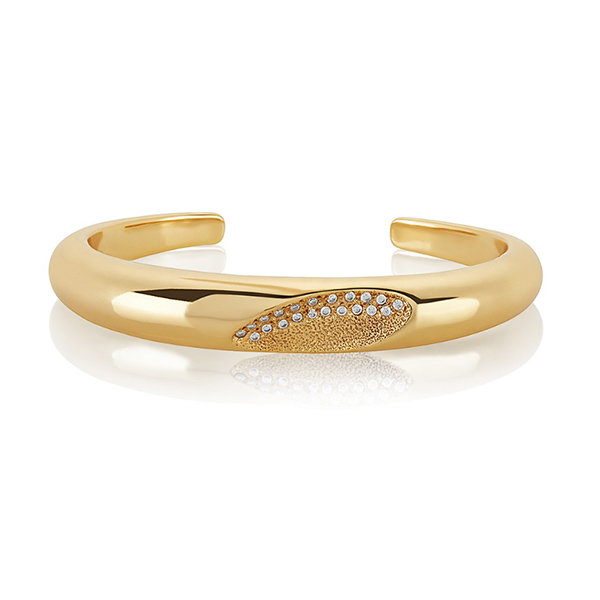 Amelia Pave Cuff Bracelet by MELINDA MARIA