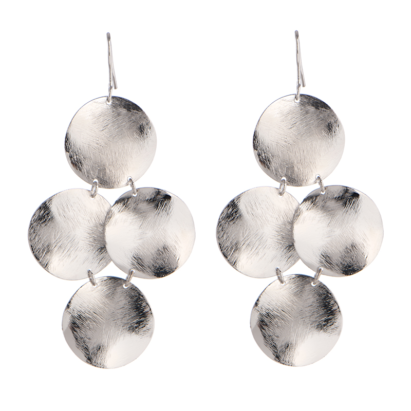 Silver Disk Earrings by MARCIA MORAN
