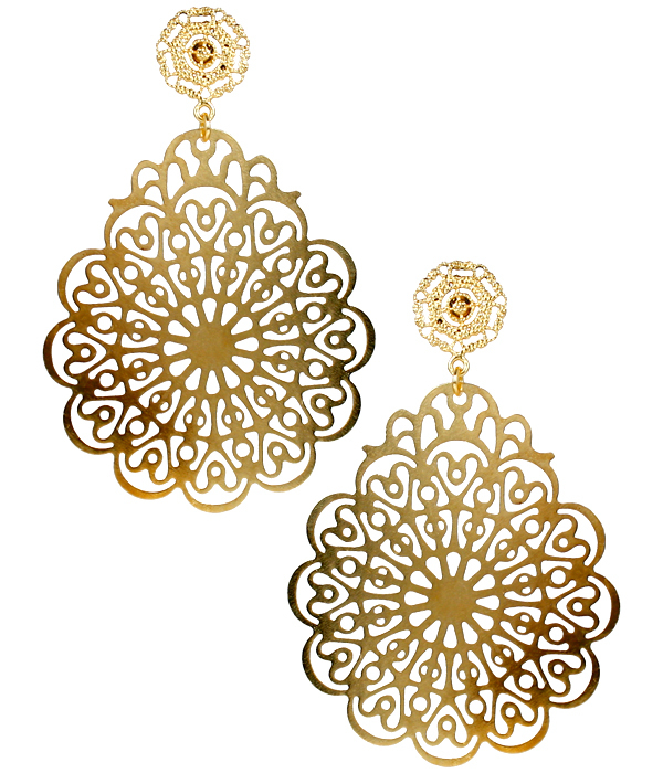 Holly Gold Filigree Earrings by LISI LERCH