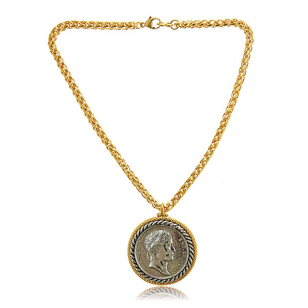 Housewife Coin Necklace by KENNETH JAY LANE