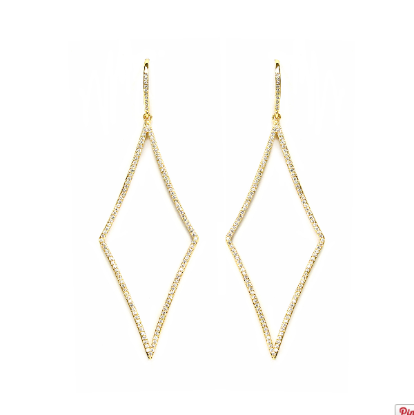 Housewives Pave Drop Earrings by Melanie Auld