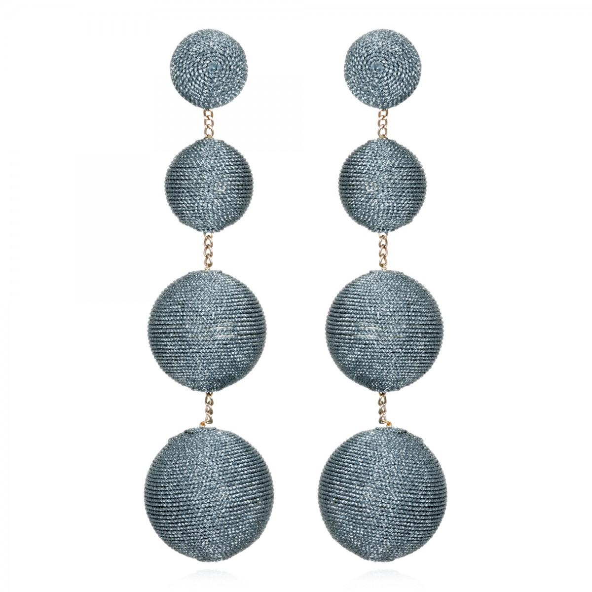 Ice Blue Gumball Earrings by SUZANNA DAI