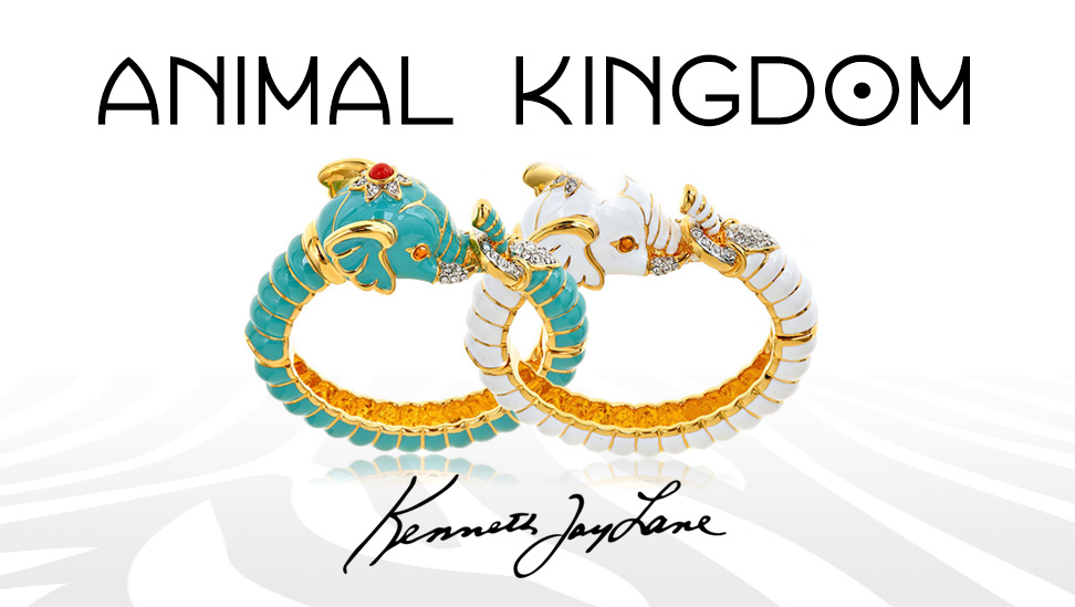 Kenneth Jay Lane Elephant Bracelets