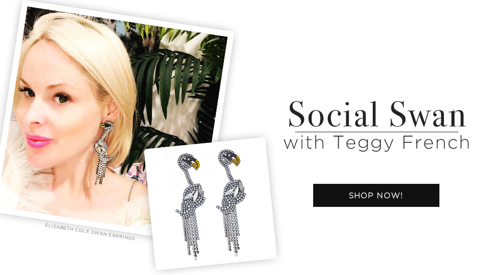 Shop Elizabeth Cole Svenja Social Swans Earrings