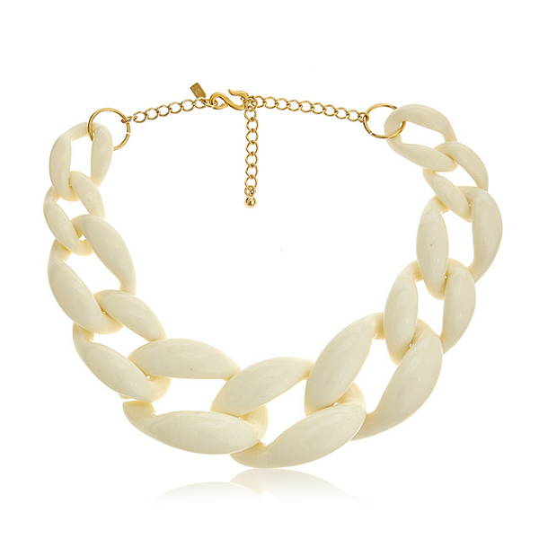 Ivory Link Necklace by KENENTH JAY LANE