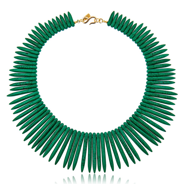 Jade Sticks Necklace by KENNETH JAY LANE