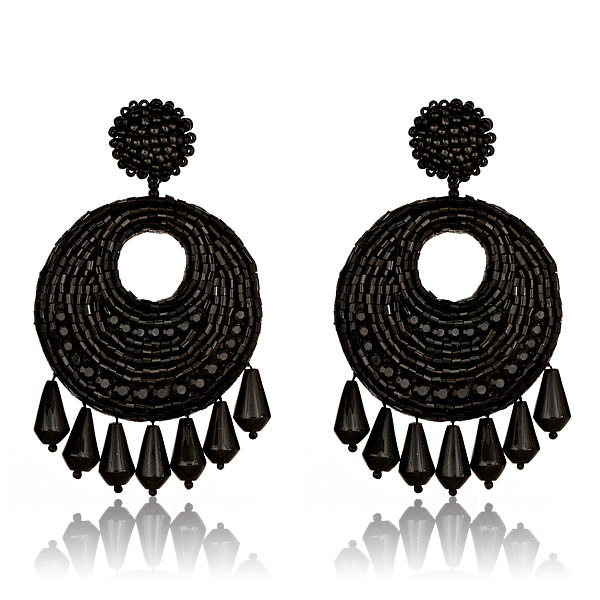 Jet Set Gypsy Black Earrings by KENNETH JAY LANE