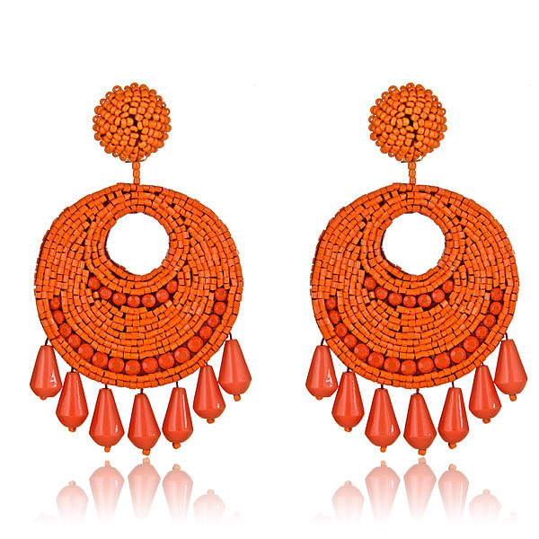 Jet Set Gypsy Coral Earrings by KENNETH JAY LANE