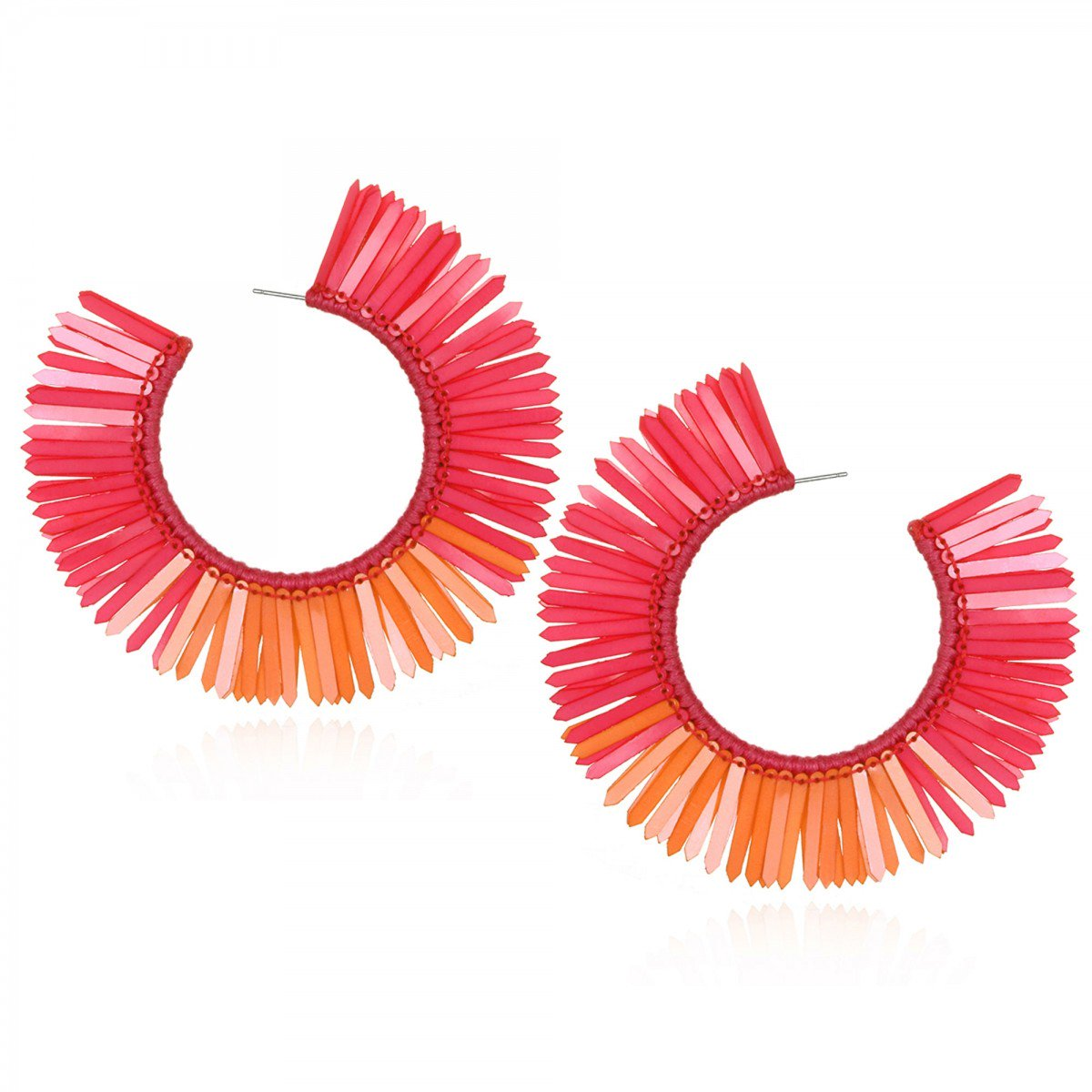 Karaja Coral Hoop Earrings by SUZANNA DAI