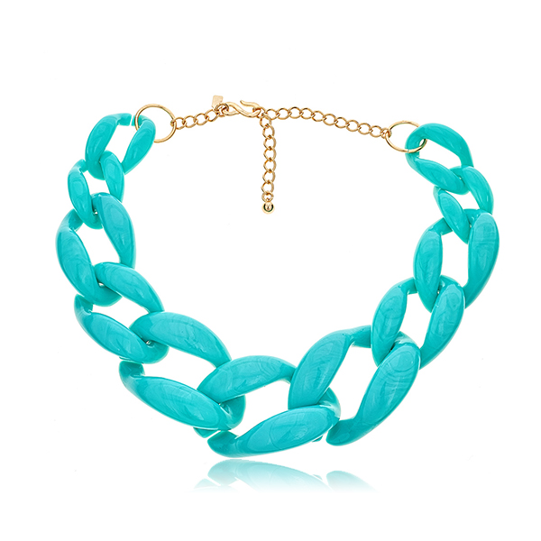 Turquoise Link Necklace by KENNETH JAY LANE