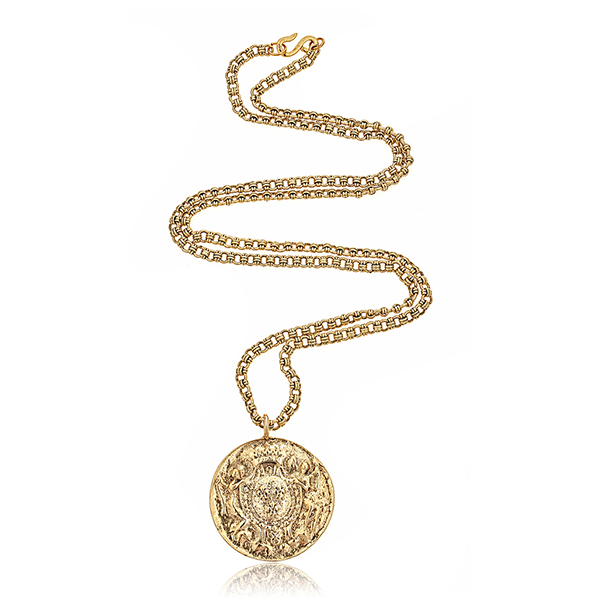 Kenneth Jay Lane Coin Necklace by KENNETH JAY LANE