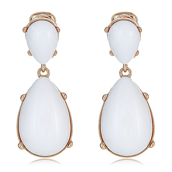 Kenneth Jay Lane White Earrings by KENNETH JAY LANE
