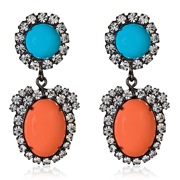 Coral Turquoise Earrings by KENNETH JAY LANE