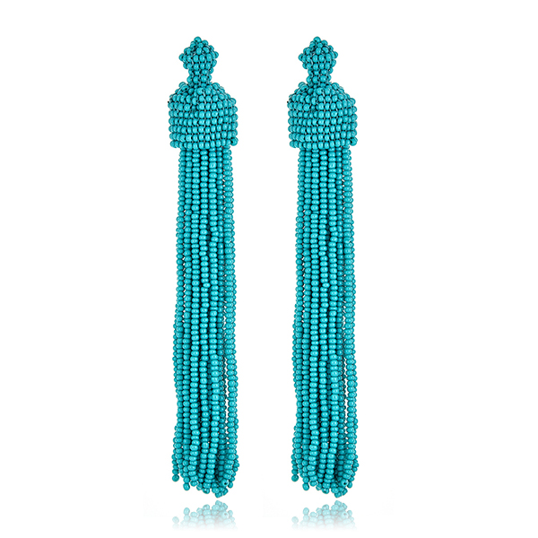 KJL Turquoise Tassel Earring by KENNETH JAY LANE