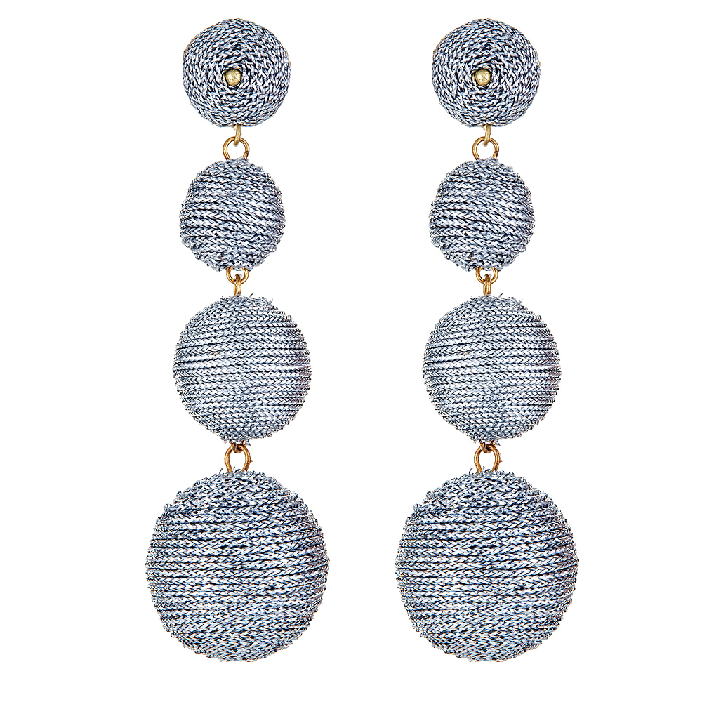 Kyle Silver Ball Earrings by KENNETH JAY LANE