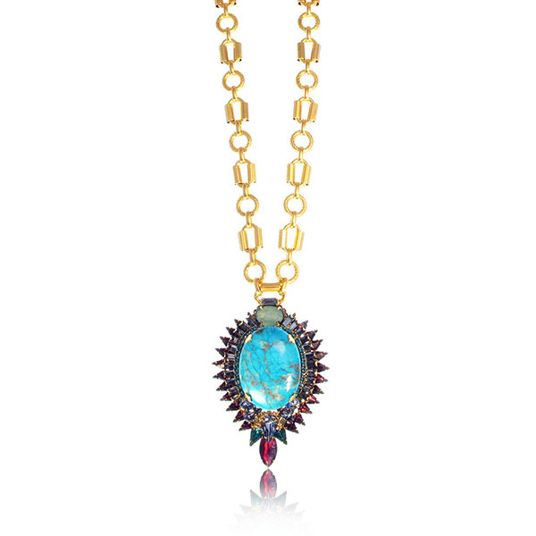 Kyler Turquoise Necklace by ELIZABETH COLE