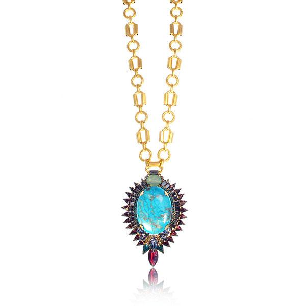 Kyler Turquoise Necklace by Elizabeth Cole