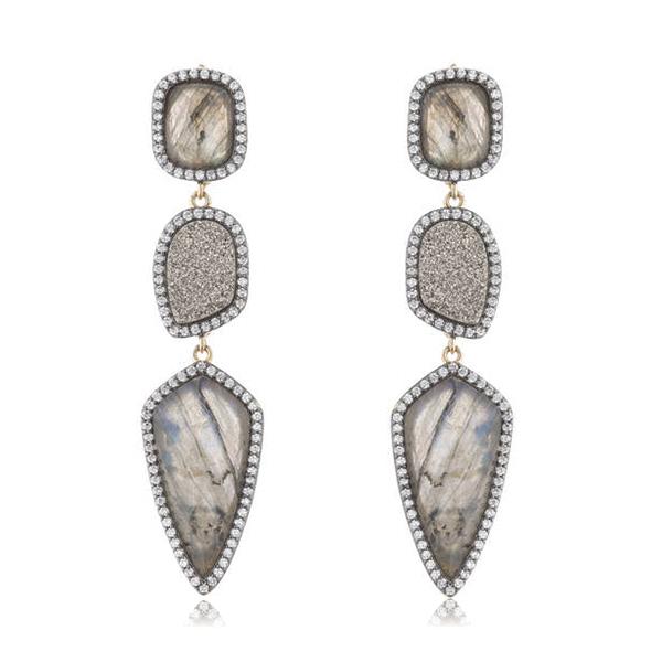 Labradorite Drop Earrings by MARCIA MORAN