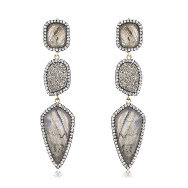 Labradorite Drop Earrings by MARCIA MORAN