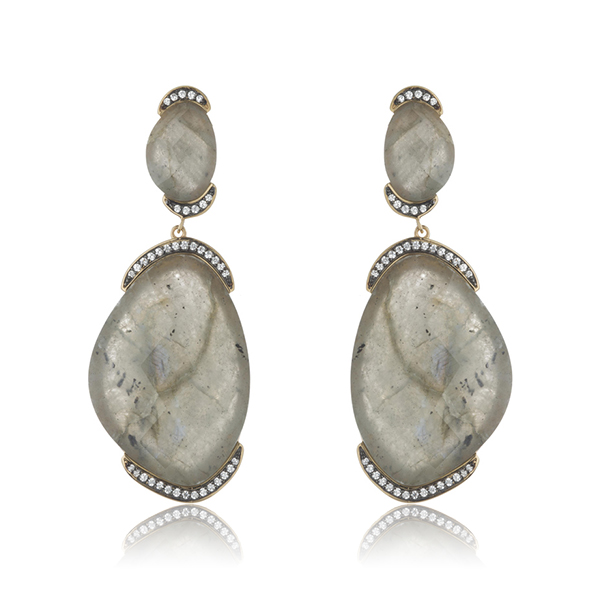 Labradorite Dustin Earrings by MARCIA MORAN