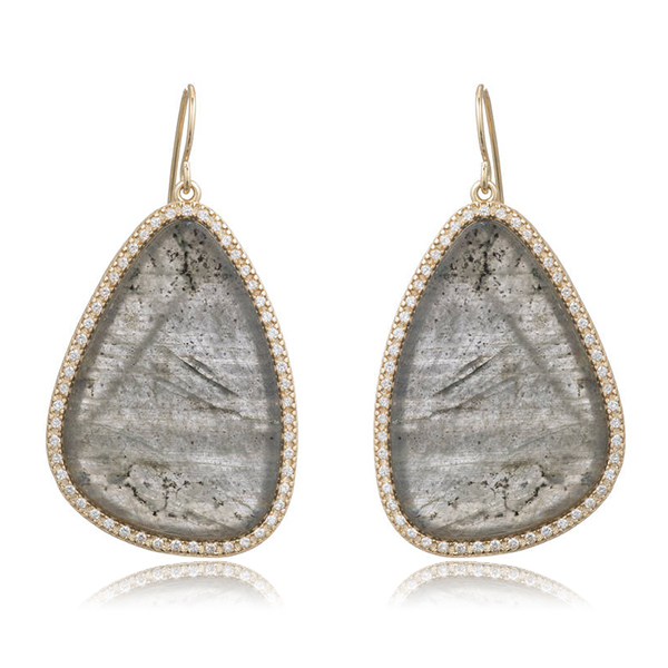 Labradorite Paddle Earrings by MARCIA MORAN