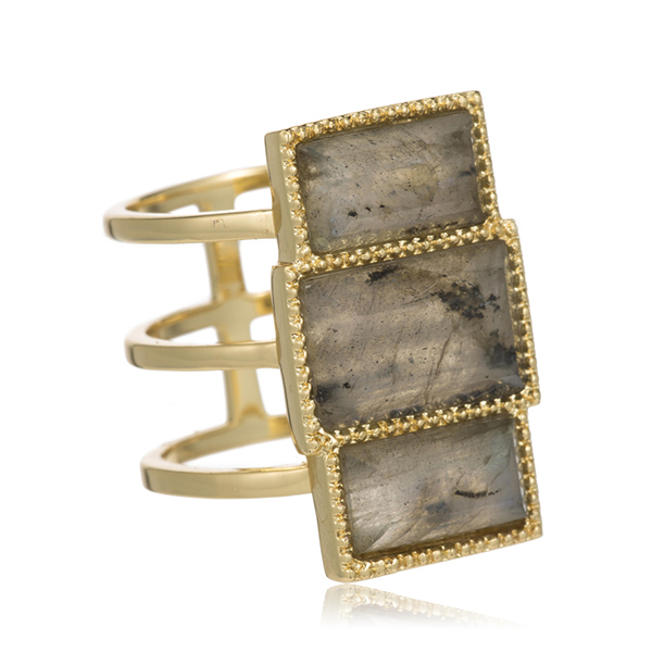 Labradorite Ring by Marcia Moran