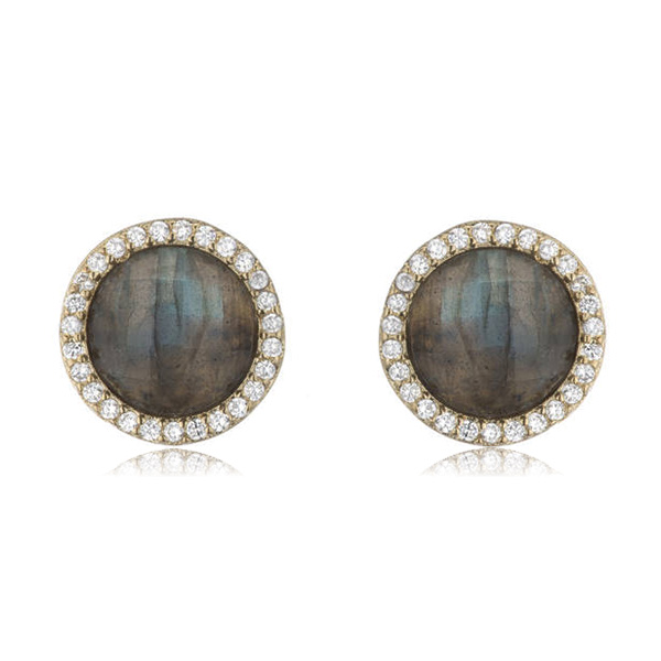 Labradorite Stud Earrings by MARCIA MORAN