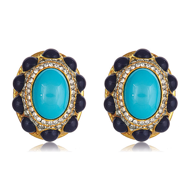 Lapis Cab Earrings by Kenneth Jay Lane