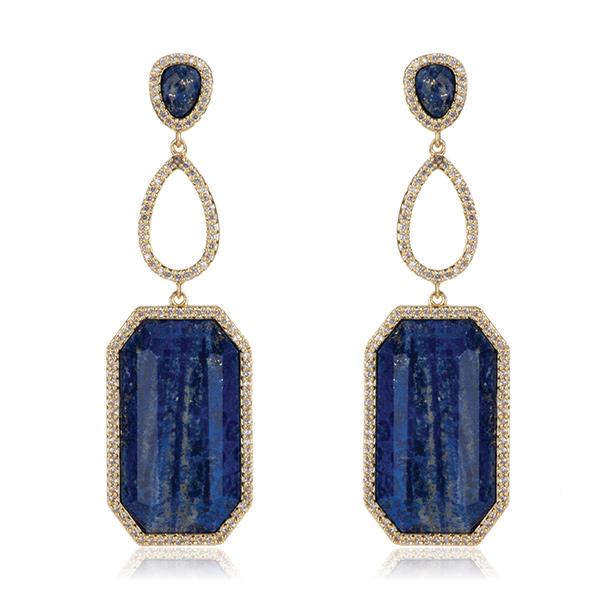 Lapis Drop Earrings by MARCIA MORAN