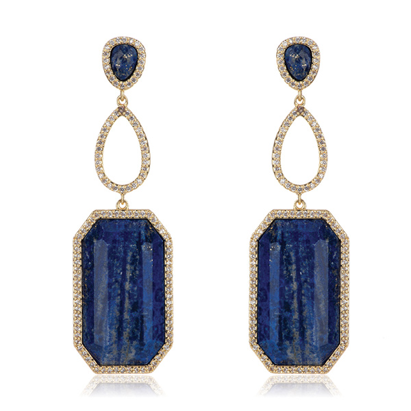 Lapis Drop Earrings by Marcia Moran