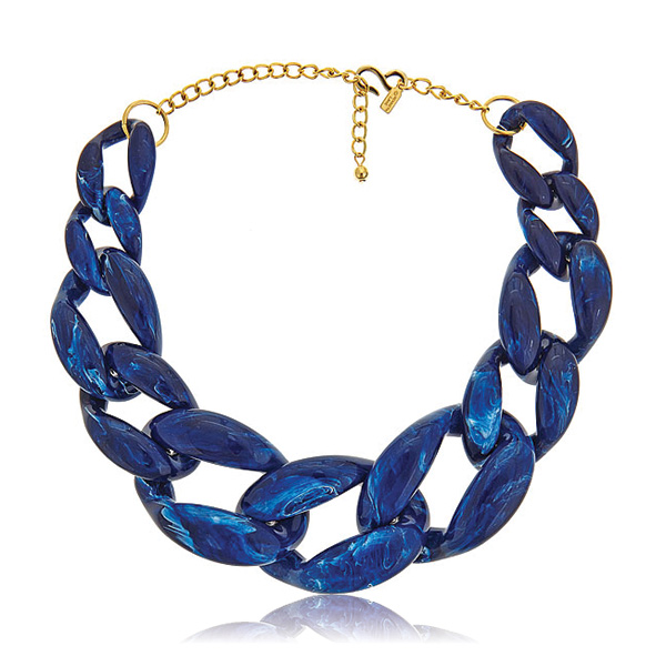 Lapis Link Necklace by KENNETH JAY LANE